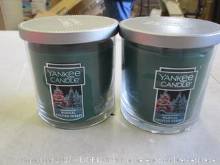 YANKEE CANDLE MAGICAL FROSTED FOREST CANDLES (2)
