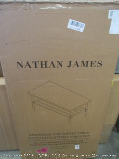 NATHAN JAMES INDUSTRIAL PIPE COFFEE TABLE