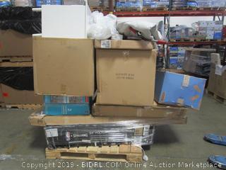 Pallet Lot: Fisher Price, Basketball Backboard, Chair, Rabbit Home, etc.