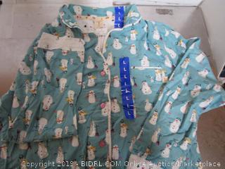 Munki Munki Womens Pajamas - Snowman Large