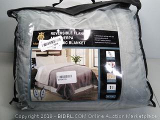 "Electric Blanket 84"" x 90"" - Reversible Sherpa"