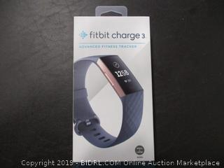 FITBIT CHARGE 3 FITNESS TRACKER (POWERS ON)