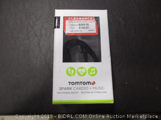 TOMTOM SPARK CARDIO + MUSIC GPS FITNESS WATCH (POWERS ON)