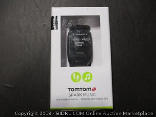 TOMTOM SPARK MUSIC FITNESS WATCH (POWERS ON)