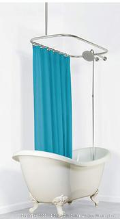 Aluminun Hoop Shower Curtain Rod for Claw Foot Tubs