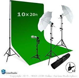 Green Screen and Lighting Kit (Online $110)