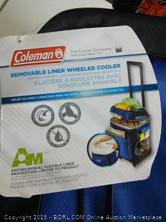 Coleman Removable Liner Wheeled Cooler