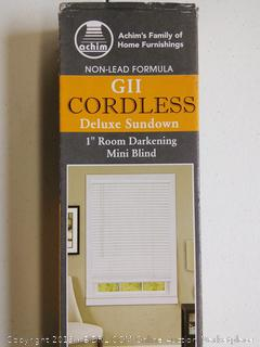 "Room Darkening 1"" Cordless Mini Blind 72"" x 64"""