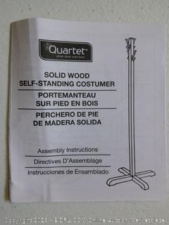 Wood Clothes Stand/Costumer (missing hooks and screws)