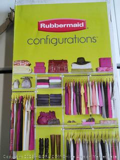 Rubbermaid Closet Kit 4 to 8 feet (Online $118)