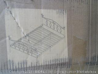 "Double Bed Frame  - Metal with Wooden Slats - "" (Damaged)"