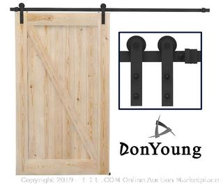 12 Ft. Single Barn Door Track (Online $99.00) ( Track Only)