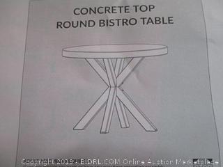 concrete top round bistro table