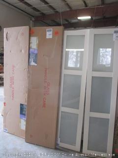 3080 white bi-fold cabinet item