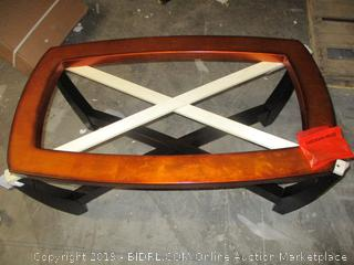 table - incomplete, missing glass top
