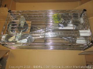 5 shelf shelving unit on casters