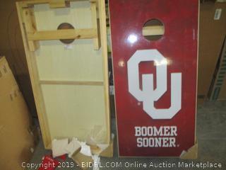 University of Oklahoma cornhole game