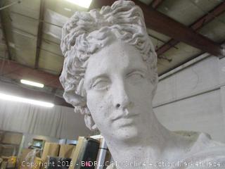 decorative bust - damaged