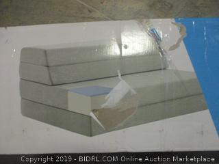 """queen size 4"""" gel folding mattress-sofa"""
