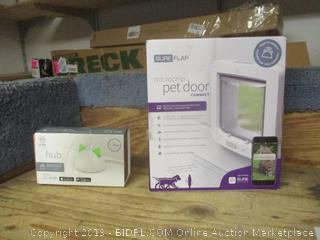 sure hub petcare item and sureflap microchip pet door connect