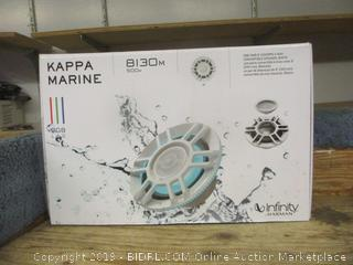 "kappa marine one pair 8"" 3 way convertible speaker, white"