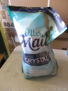 litter maid large crystal litter (open bag)