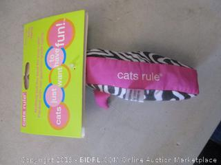 cats rule toy/catnip