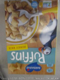 puffins honey rice cereal