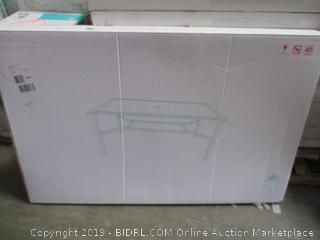 Andora Rectangular Smoke Glass Top Dining Table