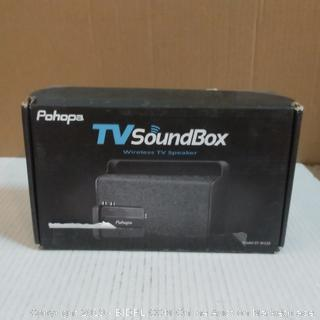 Pohops TV Sound Box Wireless TV Speaker