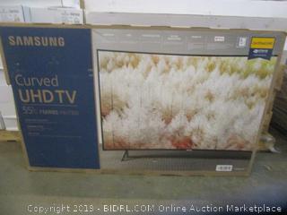 "Samsung Curved UHD TV 55"" Powers On"