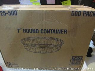 "7"" Round Containers"