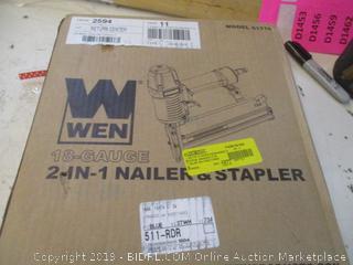 WEN 2 in 1 Nailer & Stapler