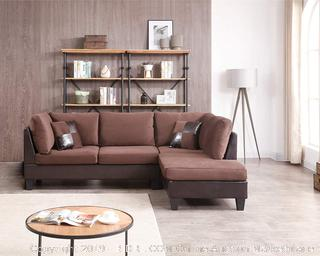 NHI Express 72024CH Edward Sectional, Chocolate (Retail $1,017.00)