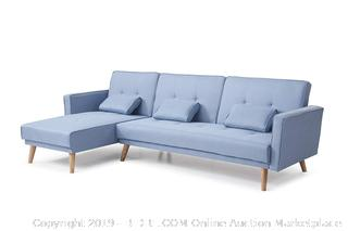 NHI Express 73041BL Jesse Sectional, Blue (Retail $594.00)