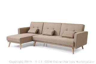 NHI Express 73041BR Jesse Sectional, Brown (Retail $594.00)
