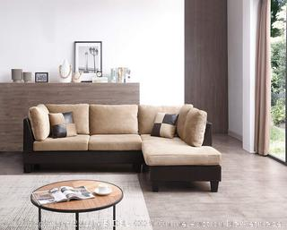 NHI Express 72024BR Edward Sectional Brown (Retail $808.00)