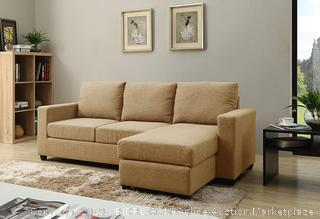 NHI Express Alexandra Convertible Sectional Sofa, Mocha (Retail $363.00)