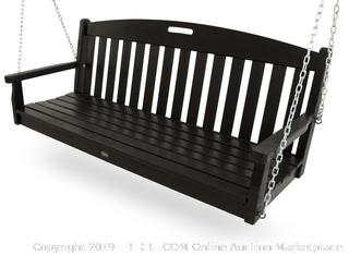 Trex Outdoor Furniture Yacht Club Swing, Charcoal Black (Retail $489.00)