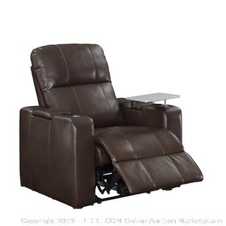 "Pulaski 1985-178-125 Power Home Theatre Recliner 38.0"" L X 39.5"" W X 43.0"" H Chocolate Brown (Retail $599.00)"