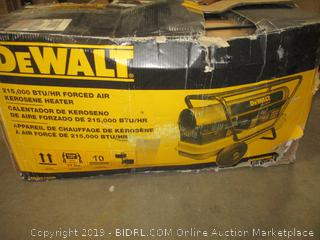 DeWalt DXH215HD Forced Air Kerosene Heater (Retail $447.00)