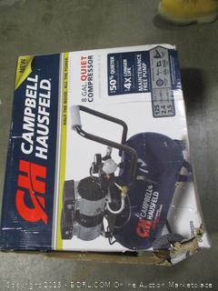 Campbell Hausfeld Portable Quiet Air Compressor, 8 Gallon (DC080500) (Retail $159.00)