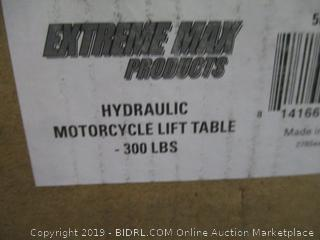Extreme Max 5001.5083 Hydraulic Motorcycle Lift Table – 300 lb. (Retail $171.00)