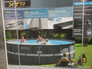 Intex 18ft X 52in Ultra XTR Pool Set with Sand Filter Pump, Ladder, Ground Cloth & Pool Cover (Retail $829.00)