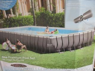 Intex Ultra Frame Rectangular Pool Set, 32 ft - Incomplete