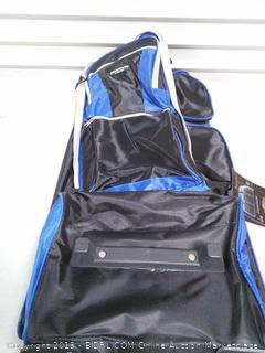 Rolling Multi-Pocket Upright Luggage