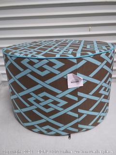 Outdoor Round Polyester Ottoman (online $98)