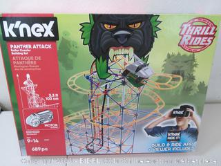 k'nex panther attack- NEW - roller coaster building set (Online $64)