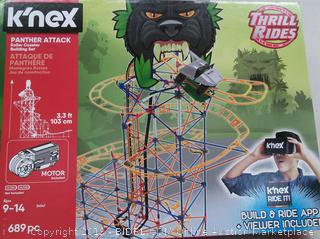 k'nex Panther NEW - Attack Rollar Coaster Building Set (Online $64)