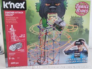 K'nex Panther - NEW- Attack Roller Coaster Building Set (Online $64)